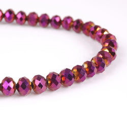 BDi Crystal Rondelle Beads in Metallic Purple