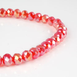 BDi Crystal Rondelle Beads in Red/AB