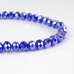 BDi Crystal Rondelle Beads in Sapphire Blue