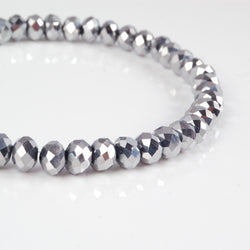 BDi Crystal Rondelle Beads in Silver