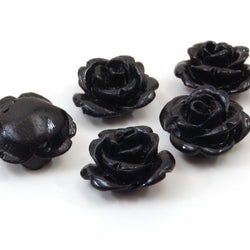 black rose flower beads