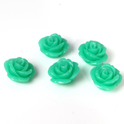 Green rose flower beads from bdi