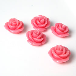 pretty pink flower beads