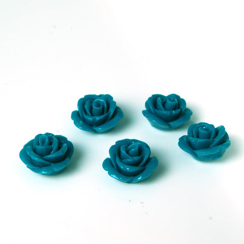 bdi beads teal flowers