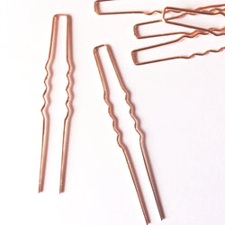Rose Gold Hair Pin Findings, Plain Rose Gold Hair Pins for Crafts