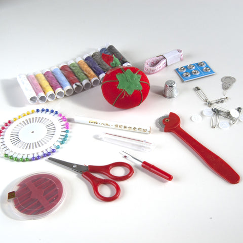 Sewing Kit in Clear Pouch