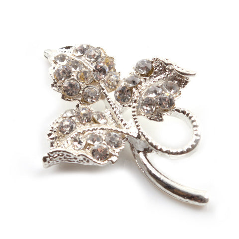 Diamante Leaf Findings for Bridal Accessories