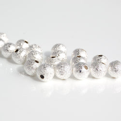 6mm Silver Stardust Beads (Pack of 20)
