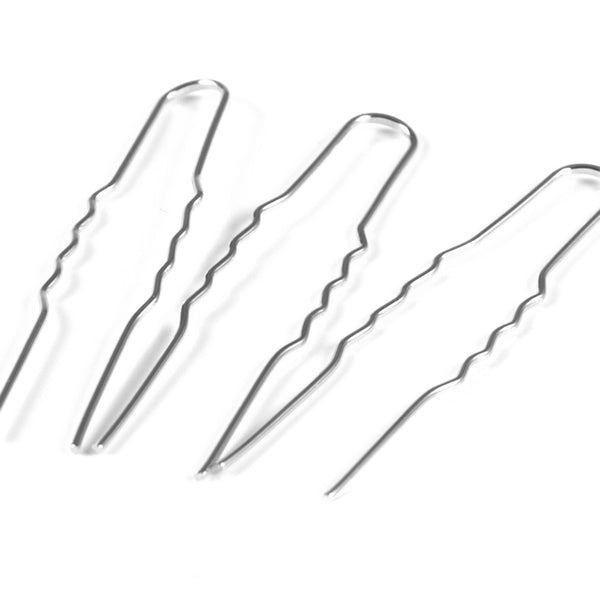 Plain silver hair pin findings for bridal hair accessories and DIY Wedding Crafts