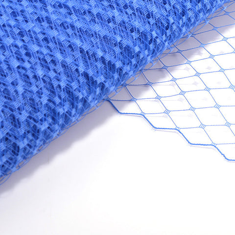 millinery supplies, mid blue veiling fabric