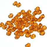 topaz 4mm crystal bicones