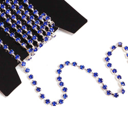 rhinestone cupchain in blue