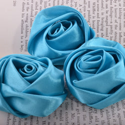 Turquoise millinery flowers