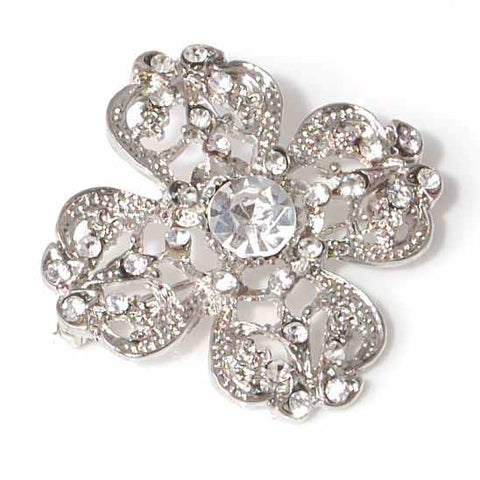 Diamante Brooch 4cm Diamante Cross