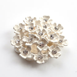 ivory flower component with diamante for wedding crafts, wedding stationery, wedding favours and millinery
