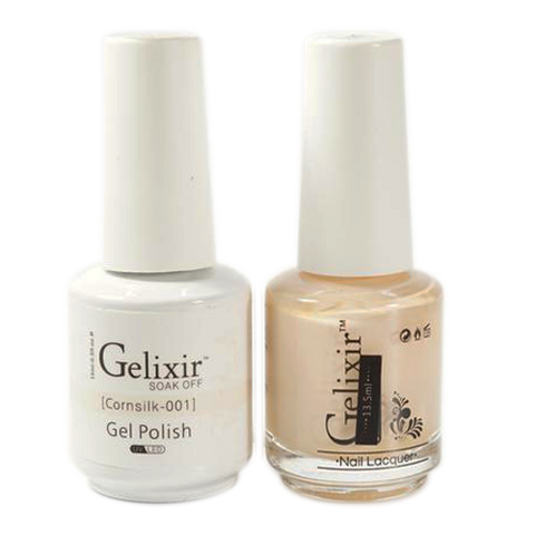 Gelixir - Matching Color Soak Off Gel - 001 Cornsilk