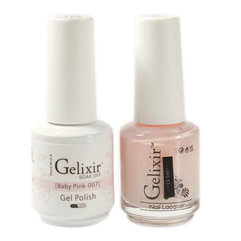 Gelixir - Matching Color Soak Off Gel - 007 Baby Pink