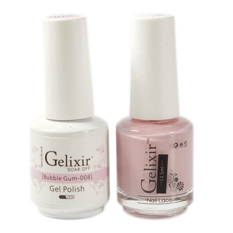 Gelixir - Matching Color Soak Off Gel - 008 Bubble Gum
