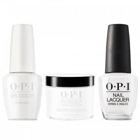 OPI COMBO 3 in 1 Matching - GCL00-NLL00-DPL00 Appine Snow