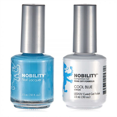 Nobility Gel Polish & Nail Lacquer, Cool Blue - NBCS081