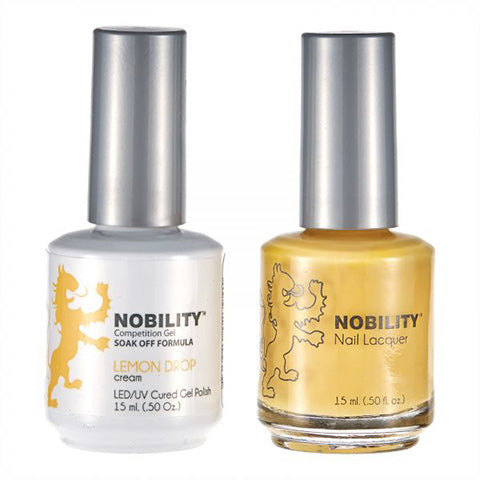 Nobility Gel Polish & Nail Lacquer, Lemon Drop - NBCS076