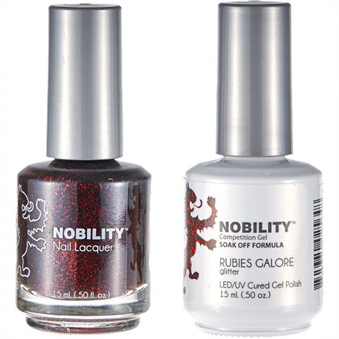 Nobility Gel Polish & Nail Lacquer, Rubies Galore - NBCS114