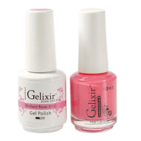 Gelixir - Matching Color Soak Off Gel - 013 Brilliant Rose