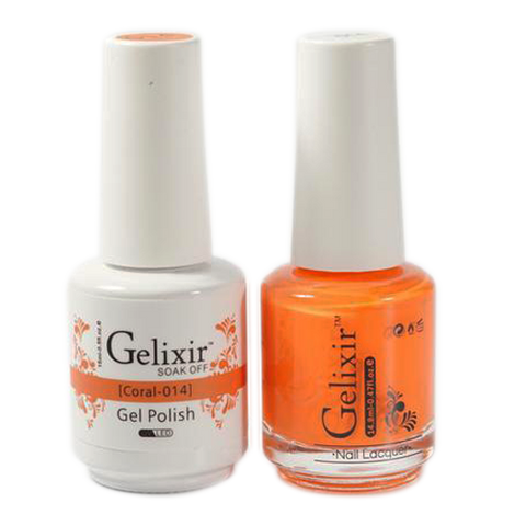 Gelixir - Matching Color Soak Off Gel - 014 Coral