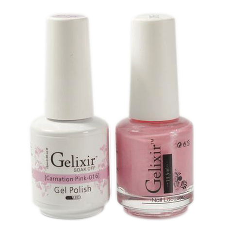 Gelixir - Matching Color Soak Off Gel - 016 Carnation Pink