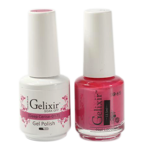 Gelixir - Matching Color Soak Off Gel - 017 Deep Cerise