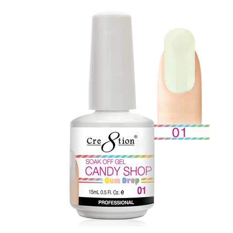 Cre8tion - Candy Shop Gum Drop Soak Off Gel .5oz 01