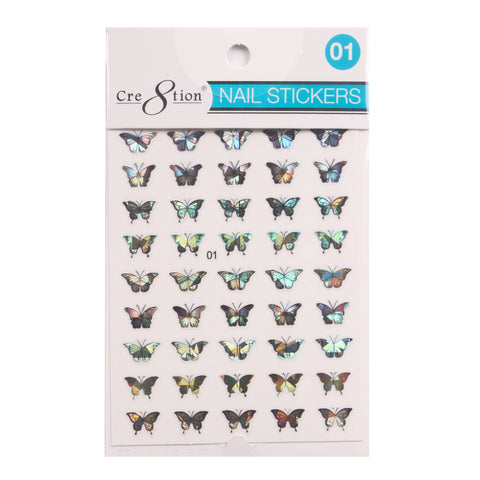 Coming Soon - Cre8tion 3D Nail Art Sticker Butterfly 01