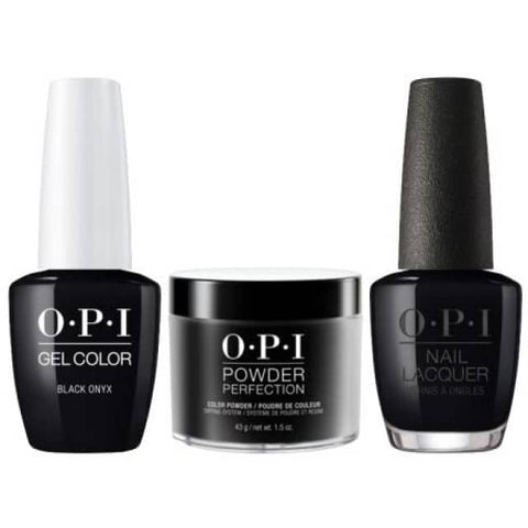 OPI COMBO 3 in 1 Matching - GCT02A-NLT02-DPT02 Black Onyx