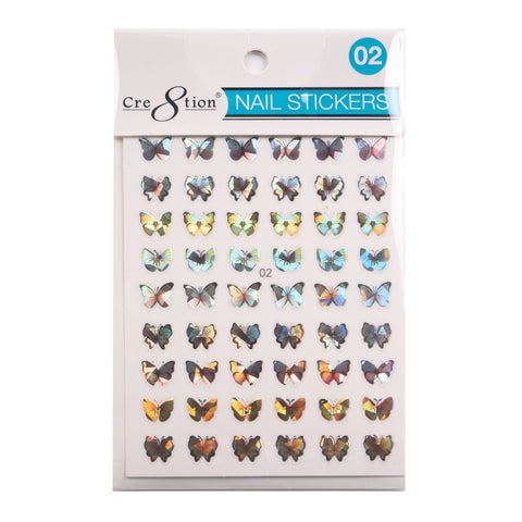 Coming Soon - Cre8tion 3D Nail Art Sticker Butterfly 02