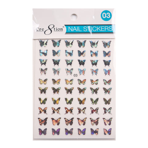 Coming Soon - Cre8tion 3D Nail Art Sticker Butterfly 03