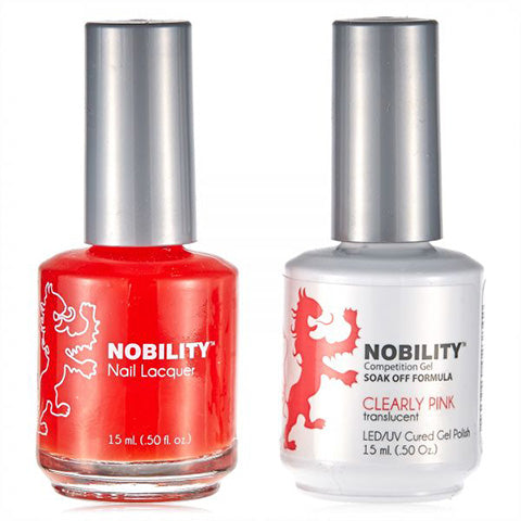 Nobility Gel Polish & Nail Lacquer, Clearly Pink - NBCS066