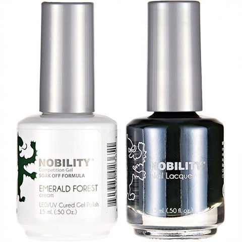 Nobility Gel Polish & Nail Lacquer, Emerald Forest - NBCS047
