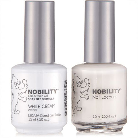 Nobility Gel Polish & Nail Lacquer, White Cream - NBCS021