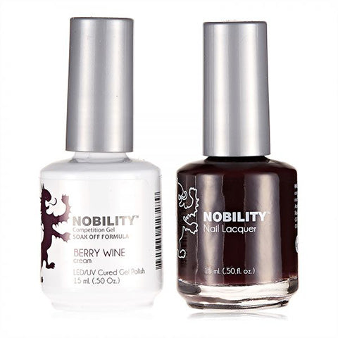 Nobility Gel Polish & Nail Lacquer, Berry Wine - NBCS009
