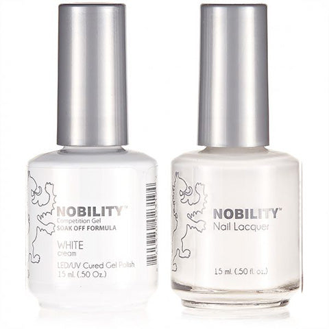 Nobility Gel Polish & Nail Lacquer, White