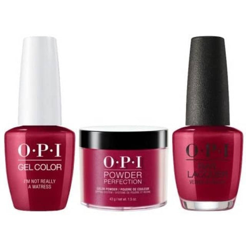 OPI COMBO 3 in 1 Matching - GCH08A-NLH08-DPH08 I'm Not Really a Waitress