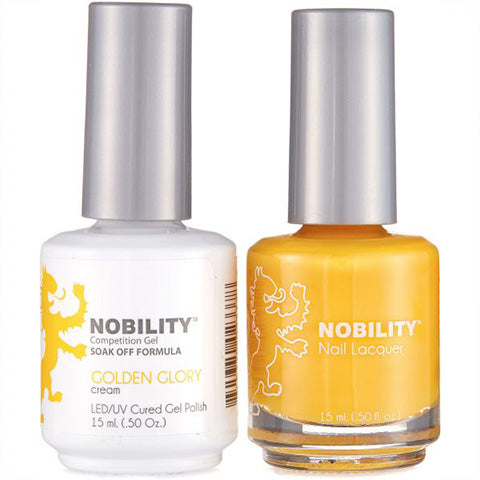 Nobility Gel Polish & Nail Lacquer, Golden Glory - NBCS019