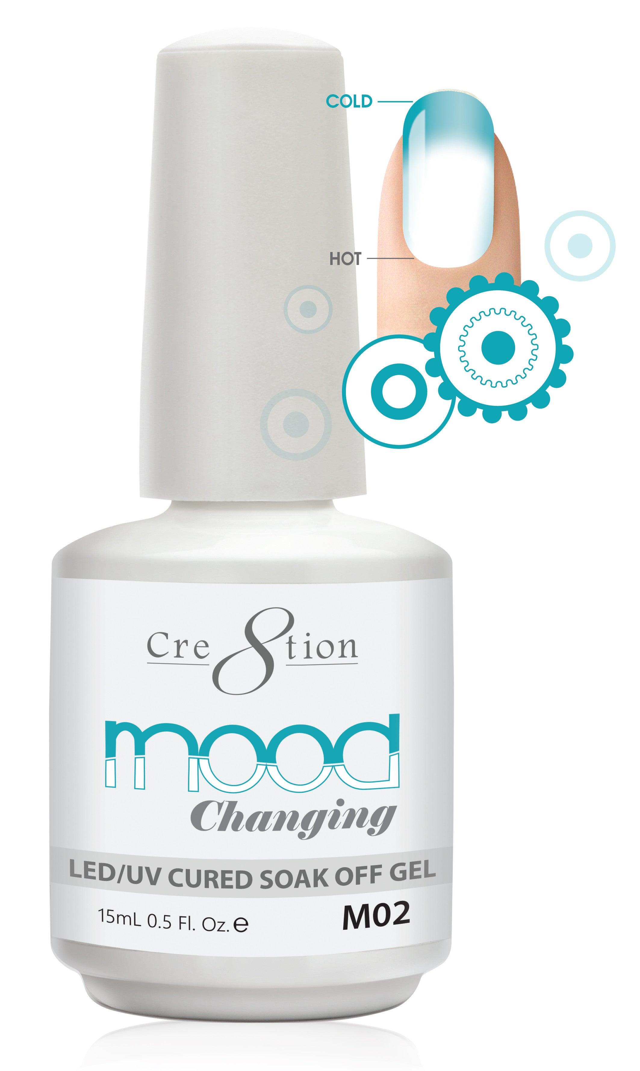 Cre8tion Mood Changing Soak Off Gel M02-Creamy