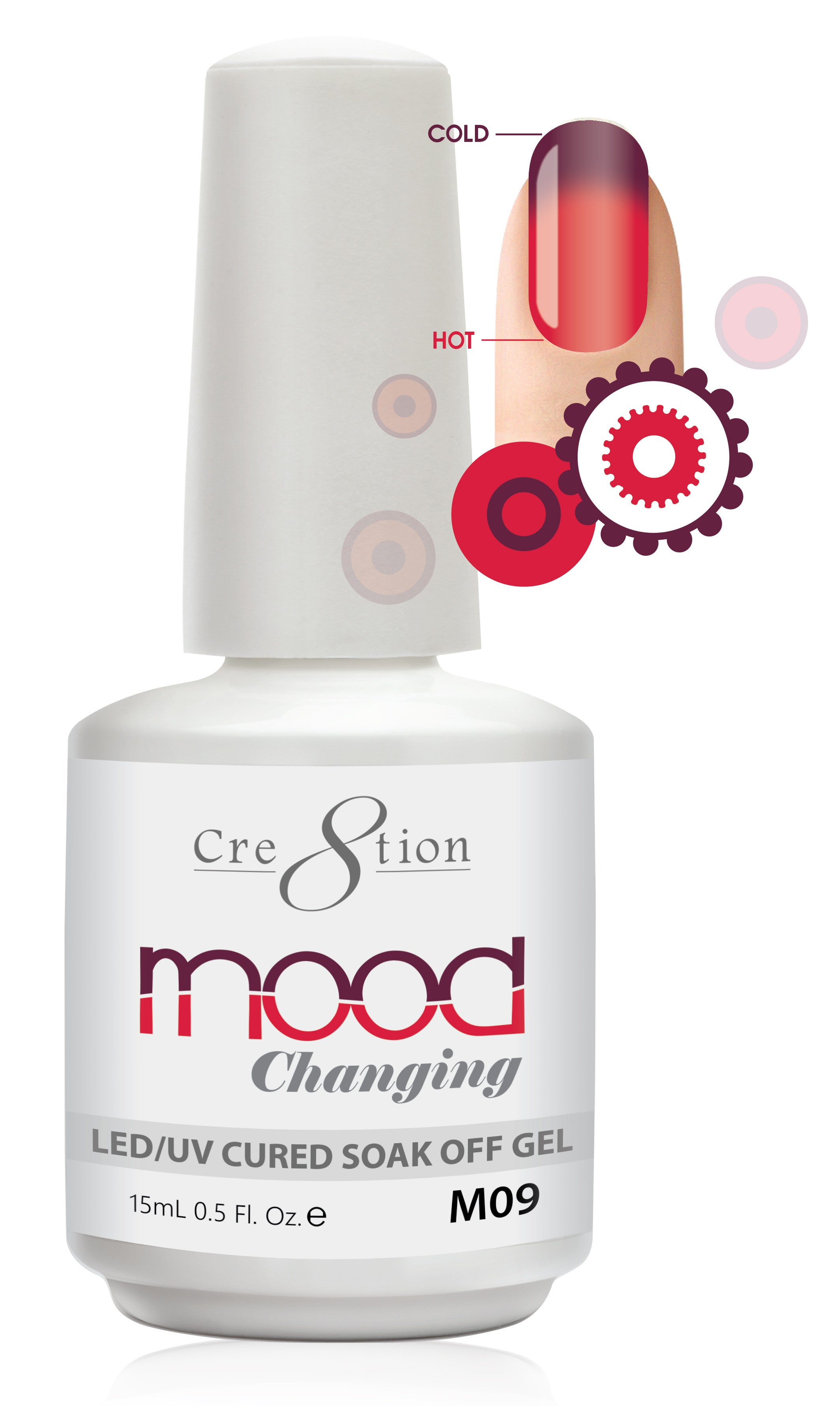 Cre8tion Mood Changing Soak Off Gel M09-Creamy
