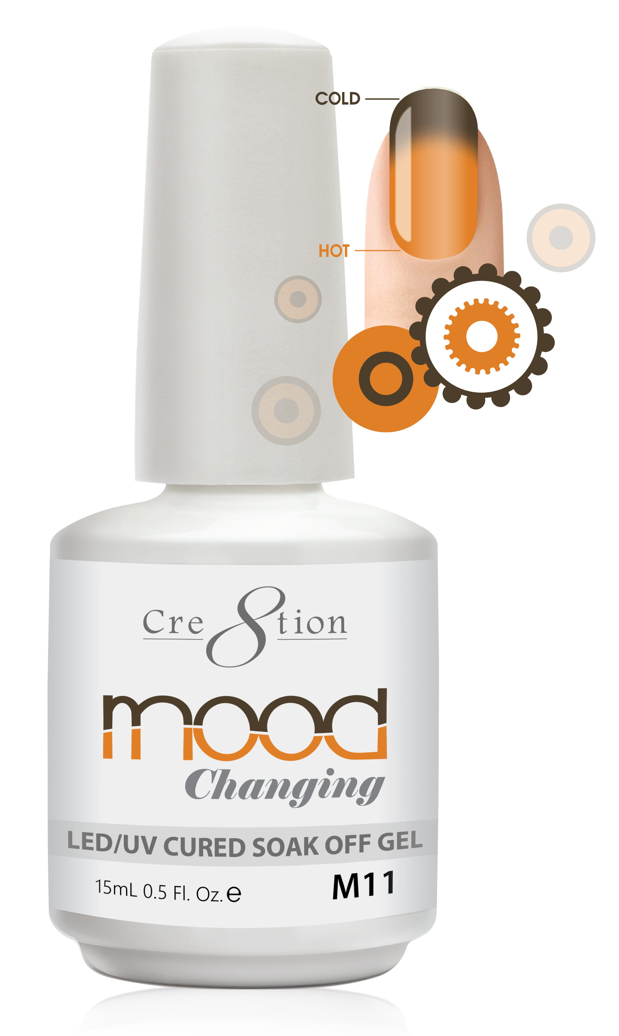 Cre8tion Mood Changing Soak Off Gel M11-Frost