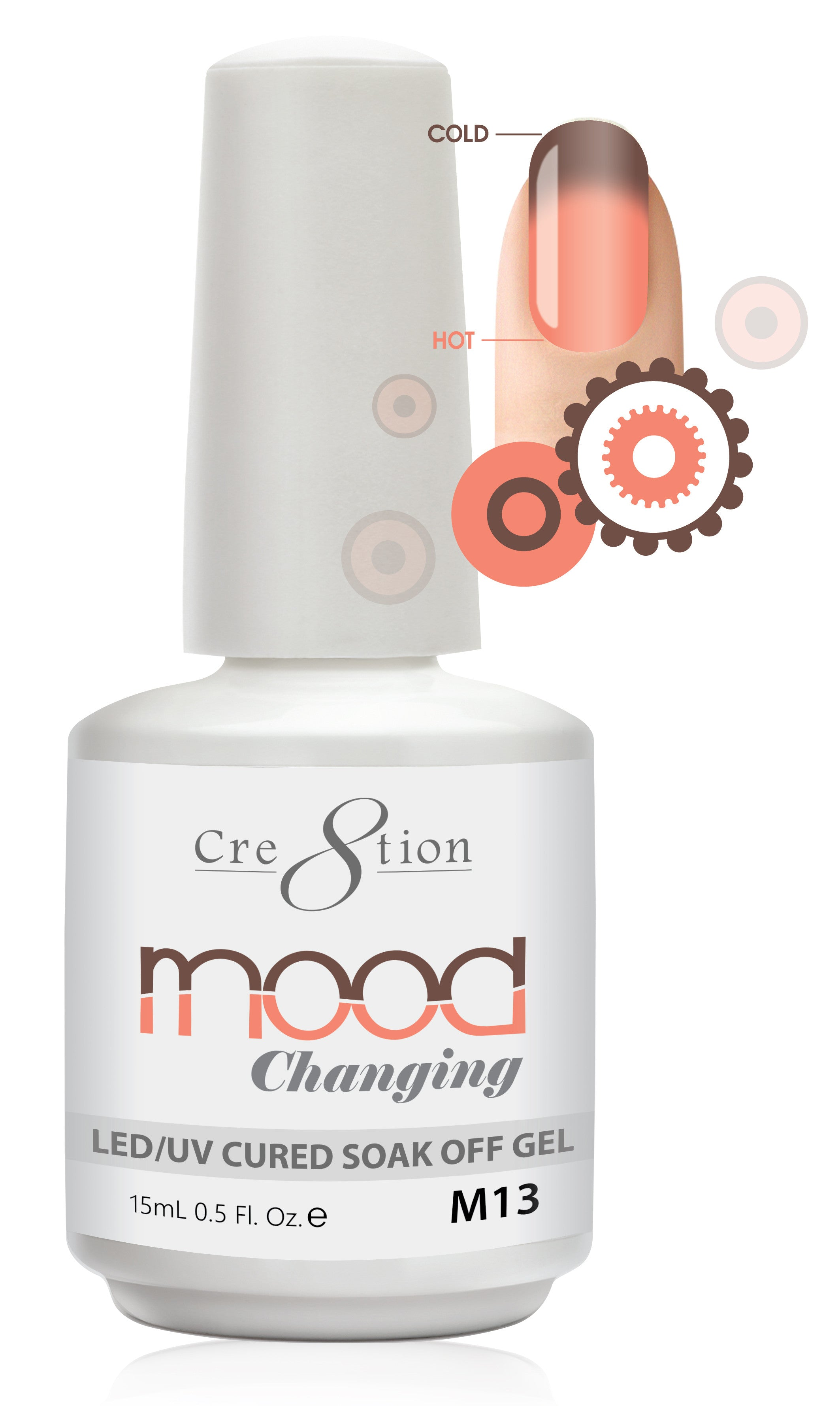 Cre8tion Mood Changing Soak Off Gel M13-Glitter