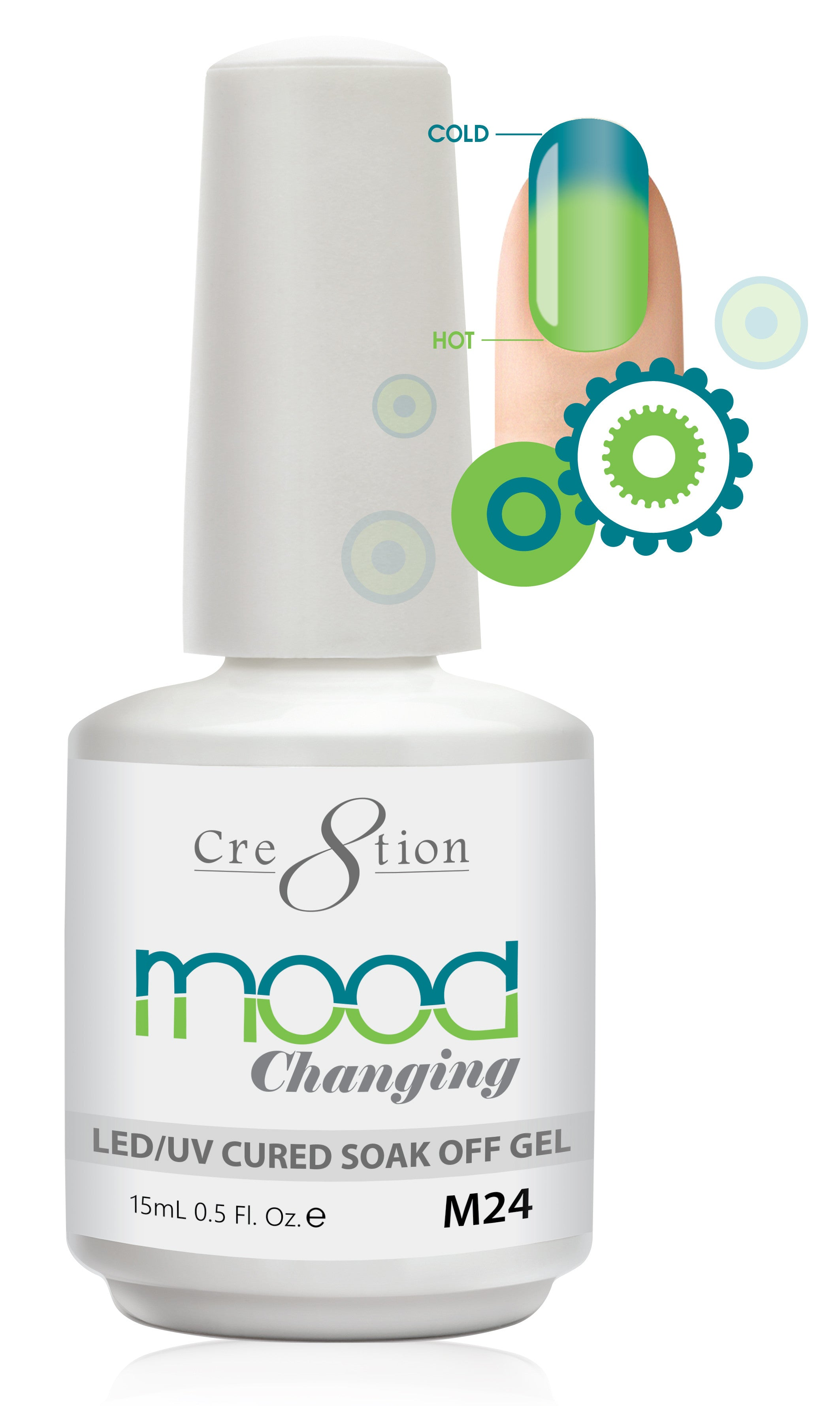 Cre8tion Mood Changing Soak Off Gel M24-Fine Glitter