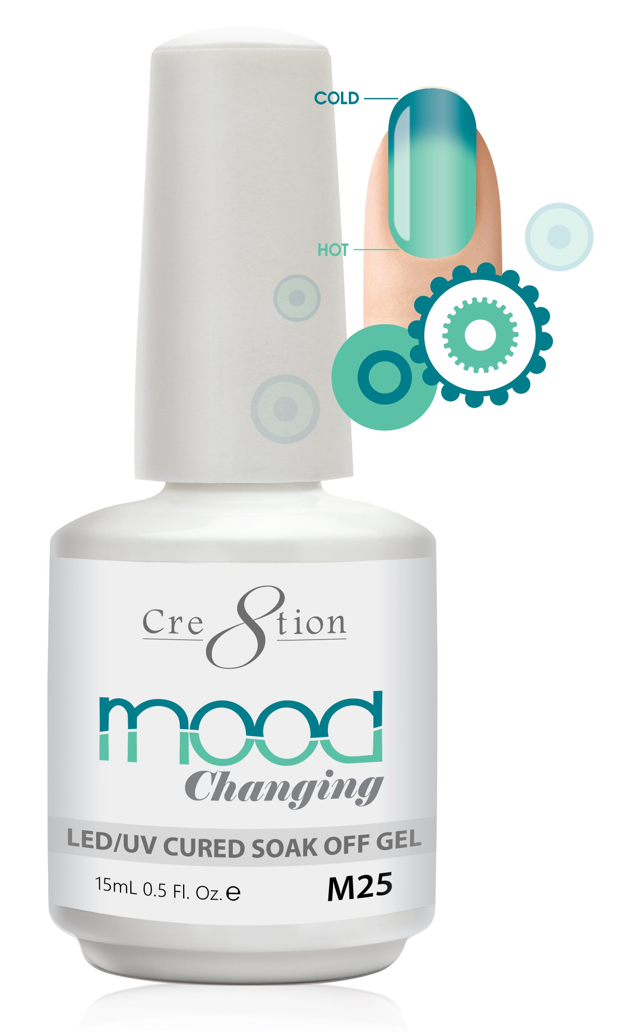 Cre8tion Mood Changing Soak Off Gel M25-Creamy