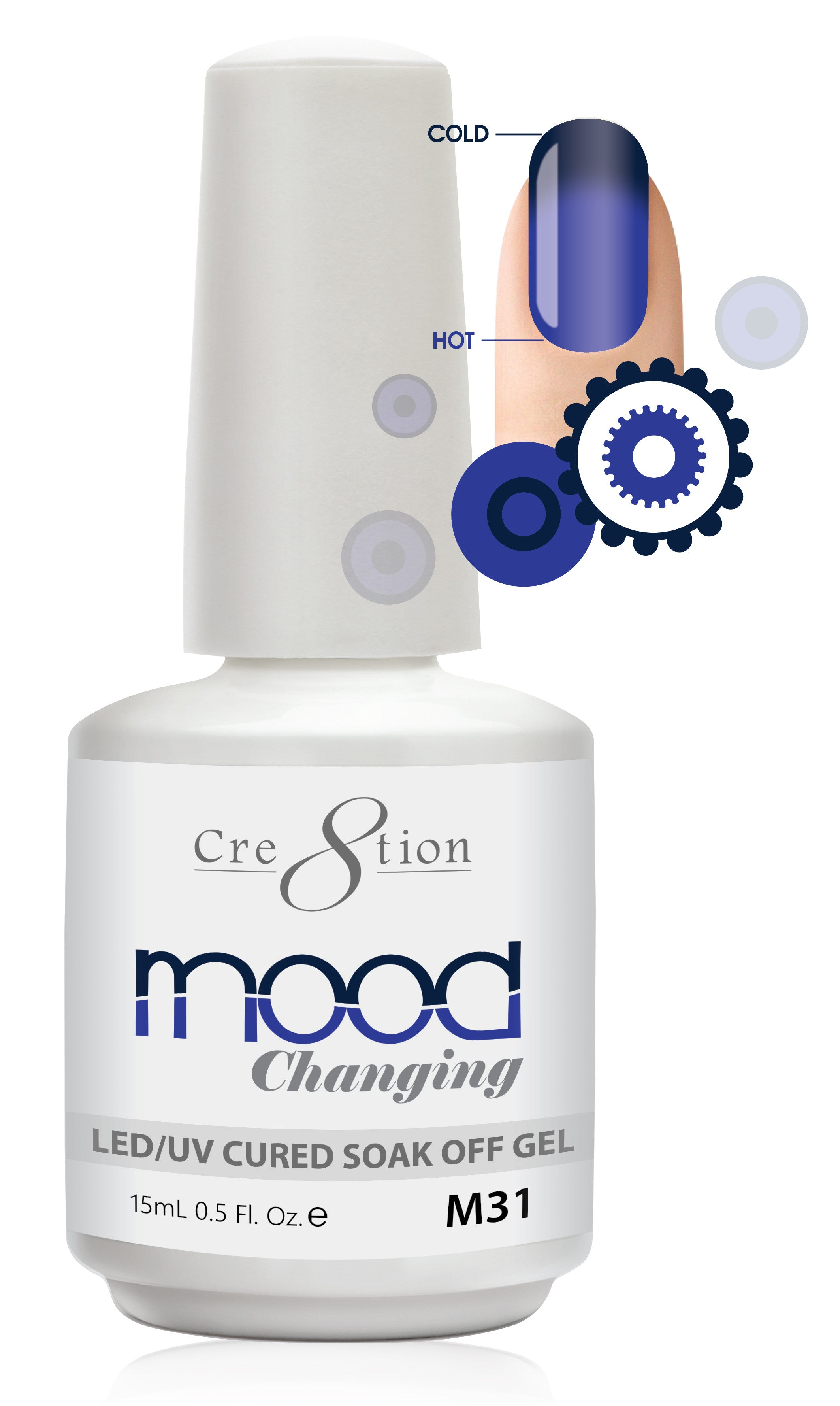 Cre8tion Mood Changing Soak Off Gel M31-Creamy