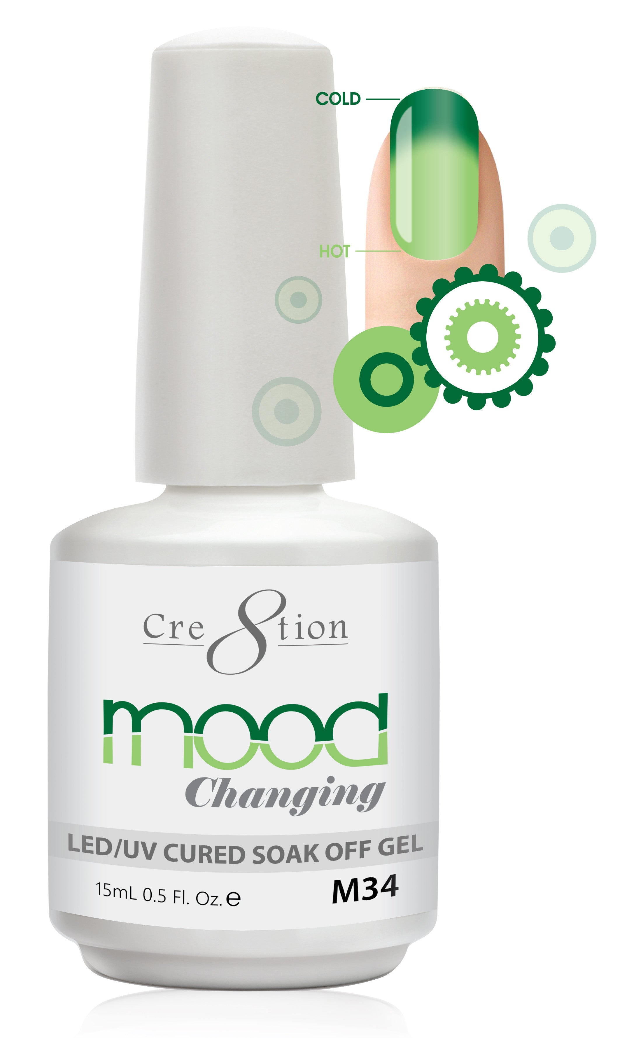 Cre8tion Mood Changing Soak Off Gel M34-Creamy